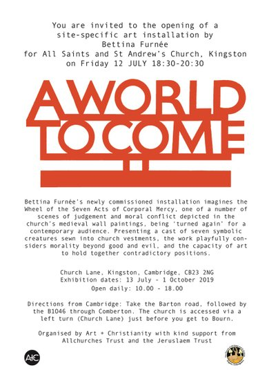 Poster for A world to Come event